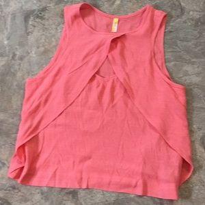 Free people pink coral top